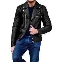 c4724674fab9a6 NIBESSER 3XL Plus Größe Slim Fit männer Moto Biker Jacke Leder Mantel  Bomber Jacke Herren Winter