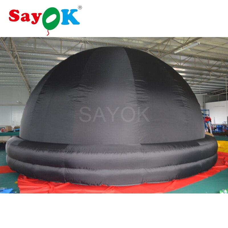 Портативный надувной планетарий проекции купольная палатка для школьного обучения с воздуха Воздуходувы и ПВХ пол Коврики (черный, 6 м/19.7ft)