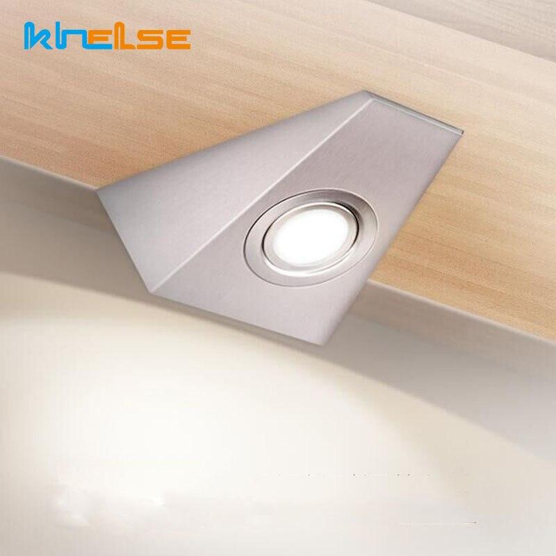 12 v led luzes do armário de cozinha com interruptor luzes do armário 3 w luz de parede 220 v 110 v banheiro armário lâmpada acabamento cetim casa decora