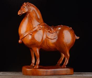 """Kuda-chan. Yellow pear Wood carving piece """"Tangma"""" solid wood carving student Xiao Ma Zhaocai office crafts"""