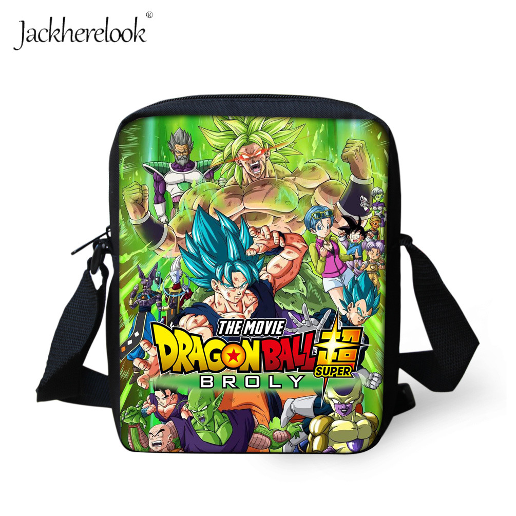 Jackherelook Dragon Ball Z Super Broly Crossboday Bag Kids School Bags Cool Anime DBZ Ultra Instinct Goku Satchel Boys Schoolbag