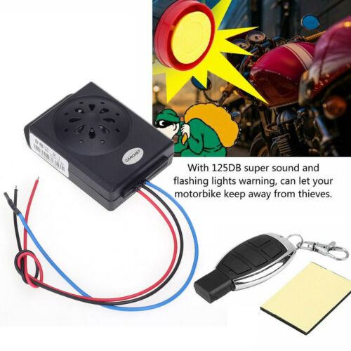 Motorcycle Bike Alarm System Anti-theft Security Remote Engine Start Immobiliser