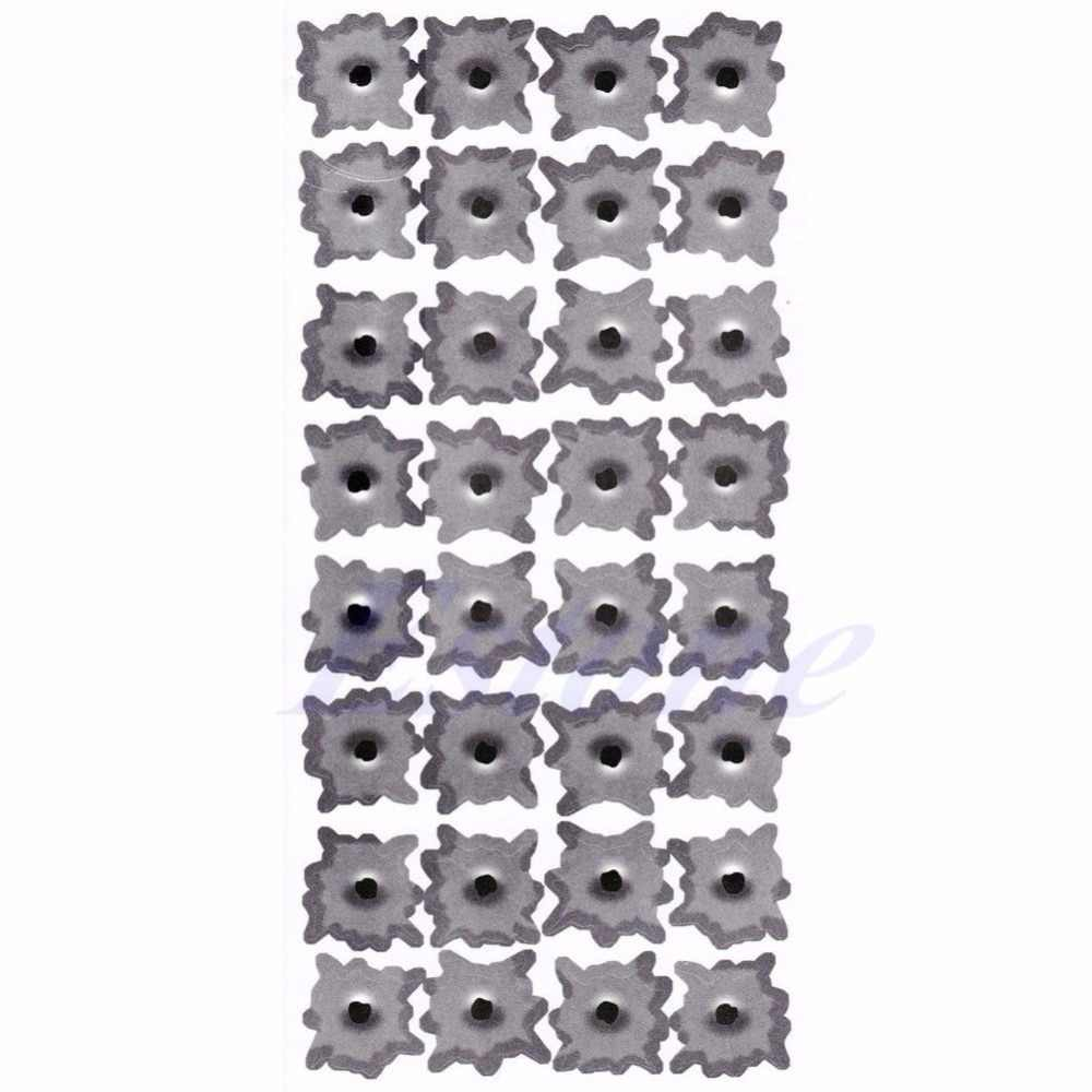 Weatherproof 32Pcs bullet holes shape car helmet motor bike sticker decals new