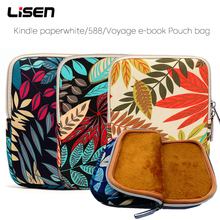 Portable Sleeve ebook bag for Amazon Kindle Paperwhite 1234 case for Kobo Aura hd Touch Sony LG eReader 6 inch Tablet cover high quality real genuine leather mangetic stand cover protective shell case for amazon kindle oasis 6 inch ereader tablet