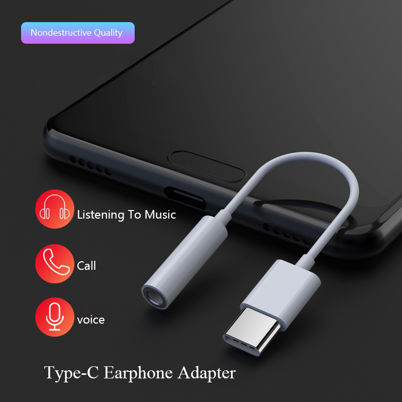 USB Type C To 3 5mm Aux Audio Extension Cord Headphone Jack Adapter For Huawei P20 Xiaomi MI6 8 Oneplus Phone Converter Cable in Phone Adapters Converters from Cellphones Telecommunications