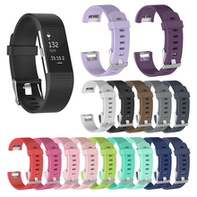 for Fitbit Charge 2 Band Silicone Smart Wristband Strap for fitbit charge2 Strap Smart Watch Band for fitbit charge 2 Band Small fitbit charge 2 replaceable watch strap black
