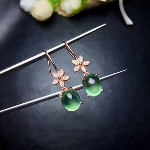 Image 5 - Natural grape stud earrings, 925 silver precision design, small flower style, 925 silver, full of luster