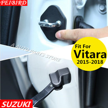 Car Door Lock Decoration Cover Door Check Arm Protection Cover For Suzuki Vitara 2015 2016 2017 2018(China)