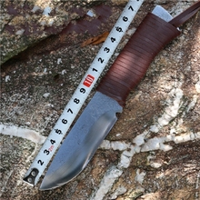 2016 Outdoor hunting knife hand forged knife collection dao high hardness Straight knife Fishing knife