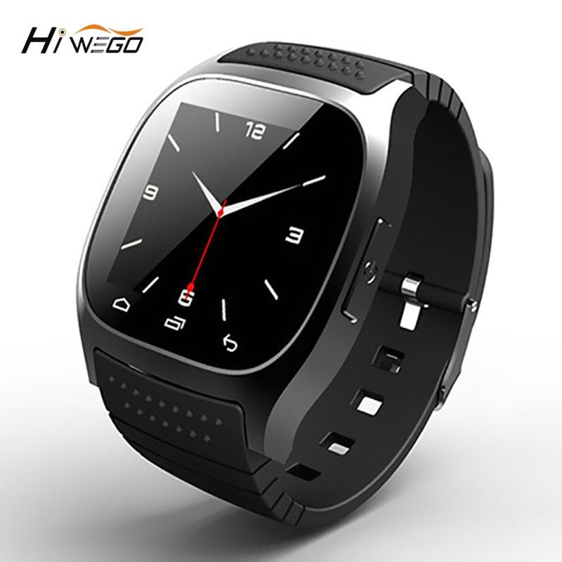 imágenes para Hiwego Marca M26 Reloj Inteligente Presente Smartwatch Sport Hombres Mujeres Hombres Reloj Inteligente Podómetro Electrónico En La Muñeca Para Adultos Moda de Nueva