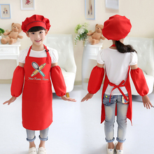 Kids drawing apron chef cute childrens cooking baking class antifouling art painting clothes logo print