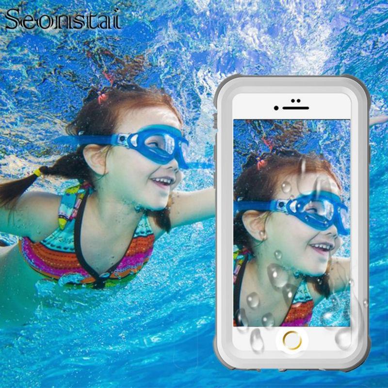 IPhone 6 6 s için Su Geçirmez Kılıf 6 Artı / 6 s Artı Hayat Su geçirmez Kılıf Darbeye Kir Geçirmez Telefon Kılıfları için I Telefon 6 Kapak