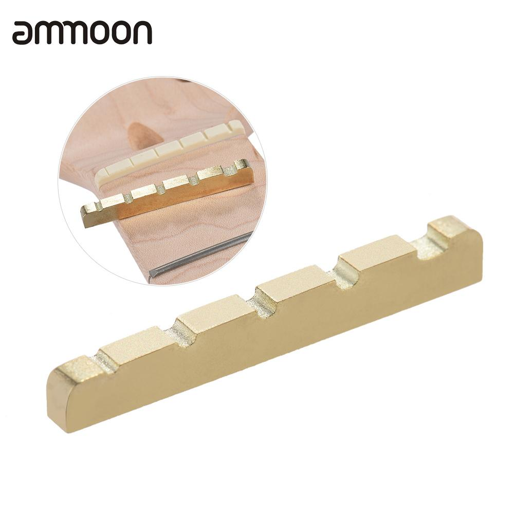 pre slotted brass guitar string nut for 5 string electric bass guitar part replacement 45 3 5. Black Bedroom Furniture Sets. Home Design Ideas