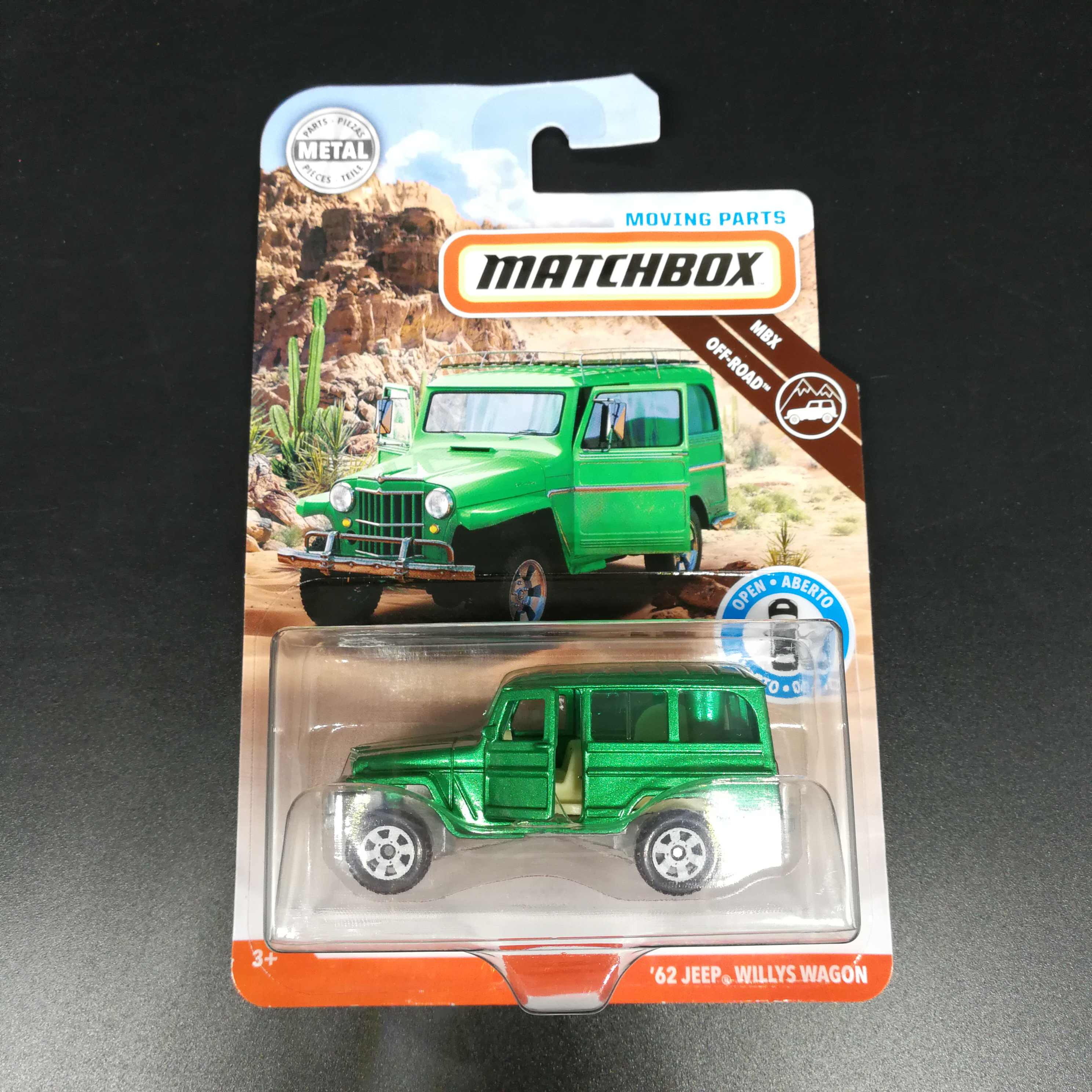 2019  Matchbox Car 1:64 Sports 62 JEEP WILLYS WAGONX Metal Material Body Race Car Collection Alloy Car Gift