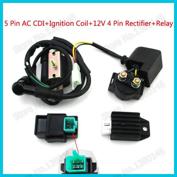 buy 5 pin ac cdi ignition coil starter. Black Bedroom Furniture Sets. Home Design Ideas