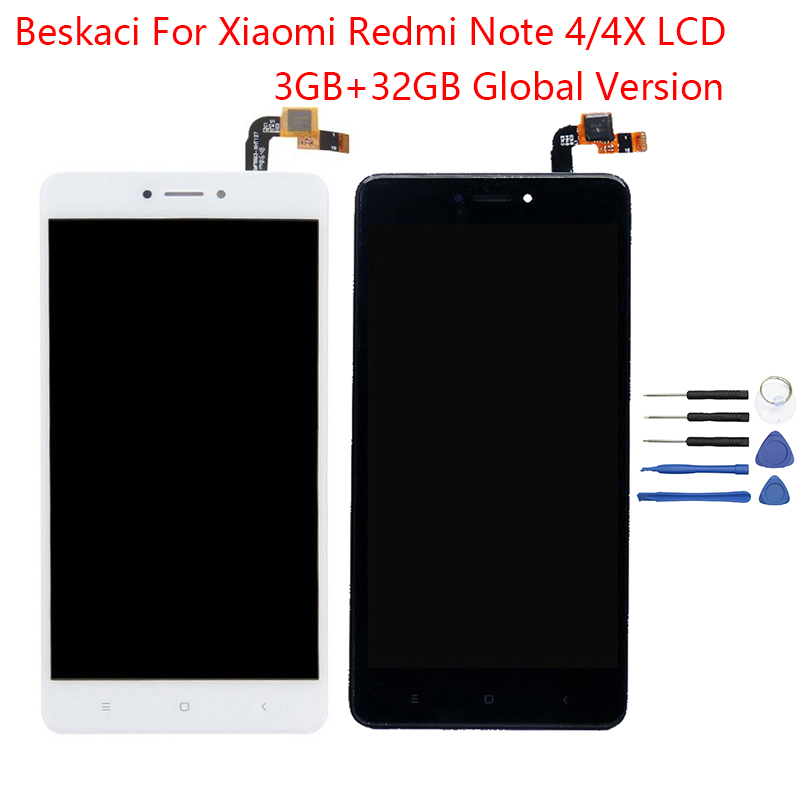 Beskaci Screen For Xiaomi Redmi Note 4x 4 LCD Frame Display Touch Screen For Redmi Note 4 Global Version 32GB Snapdragon 625