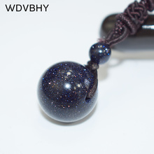 Natural Sandstone Necklace Rope Chain Crystal Pendant Charm Stone Men Women 16mm Adjustable Necklaces Pendants Colares Etnico