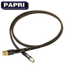 PAPRI MPS HD-990 99.9997% OCC посеребренный аудио кабель HiFi позолоченный USB разъем Вилки кабель для передачи данных DAC DVD