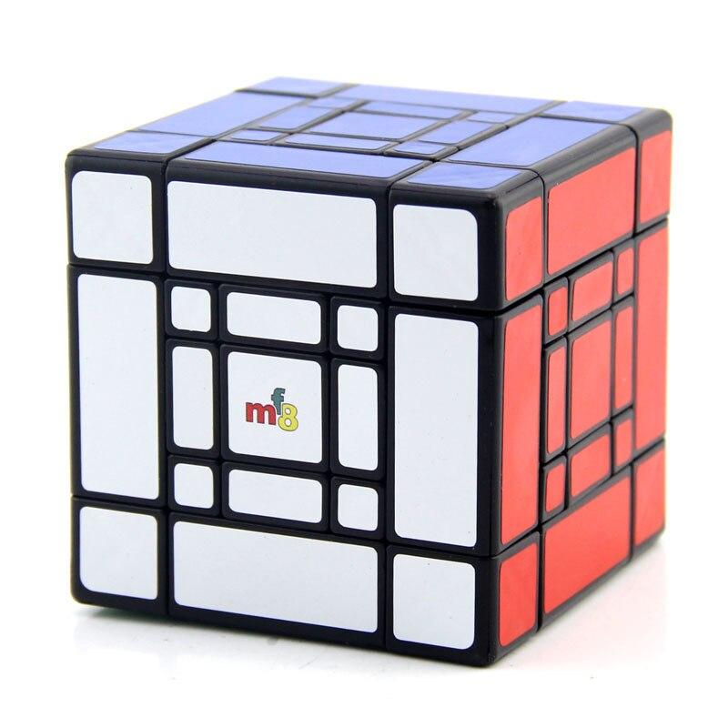 MF8 Mère et Fils Doulbe 3x3x3 puzzle de cubes Noir Autocollant Cubo jouets magiques Pour Enfants Étrange Forme Twisty cube Fils-Maman