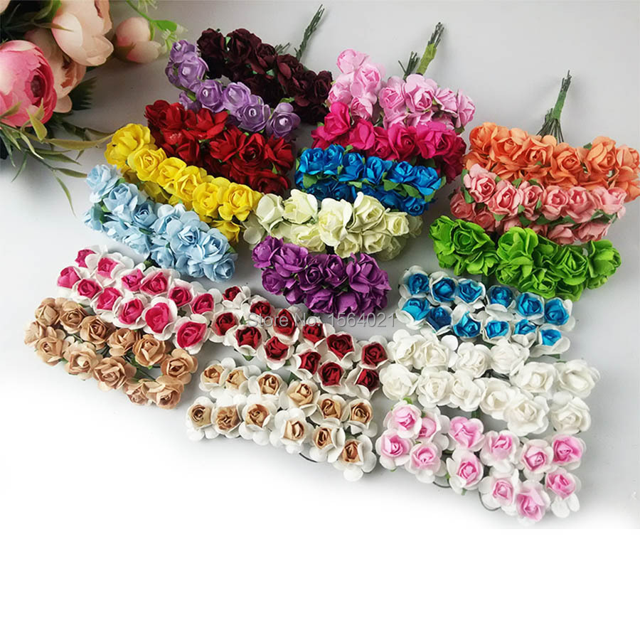 Hot Sale Small Mulberry Paper Flowers Bouquets Paper Rose Flowers