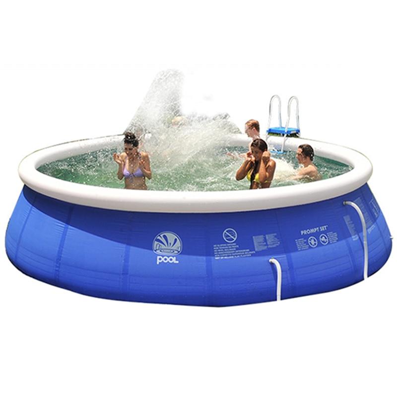 Gonflable Piscine Hors Sol Facile Ensemble Pour Adultes Enfants 7 Taille Grand Bleu PVC Infantile De Bain Accessoires - 5