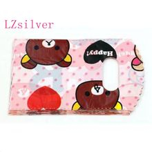 Jewelry Pouches.300pcs 9x15cm Cute bear Plastic Bag Jewelry Gift Bag L016
