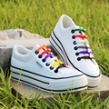 Womens Platform White Shoes New 2016 Breathable Outdoor Rainbow Lace up Canvas Shoes Women Thick Sole Trainers Zapatillas Mujer