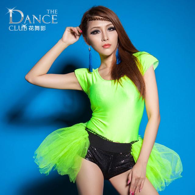 Nova Moda Jazz harém mulheres hip hop dança cantora ds desgaste desempenho traje sexy neon ds sexy Bodysuit macacão