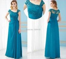 Elegante lange abendkleider formales kleid 2015 new scalloped flügelärmeln appliques drapierte chiffon kleid für prom vestidos longos