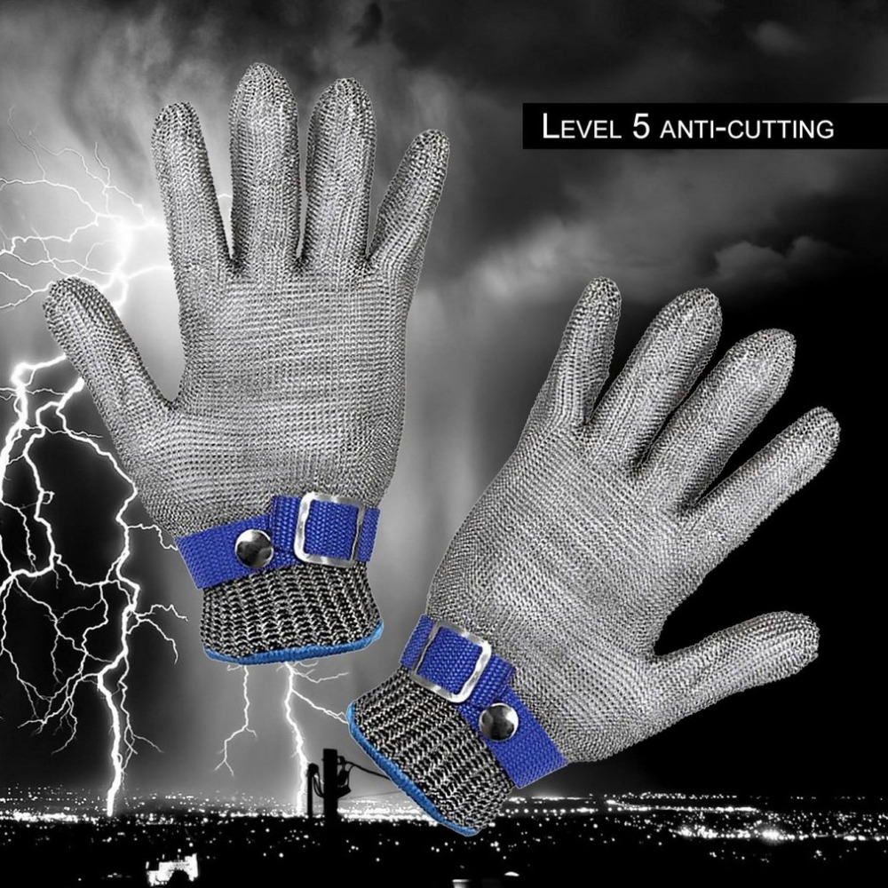 Safety Hig quality Safety Cut Resistant Proof Protect Glove 100% Stainless Steel Metal Mesh Butcher Gloves top quality 304l stainless steel mesh knife cut resistant chain mail protective glove for kitchen butcher working safety