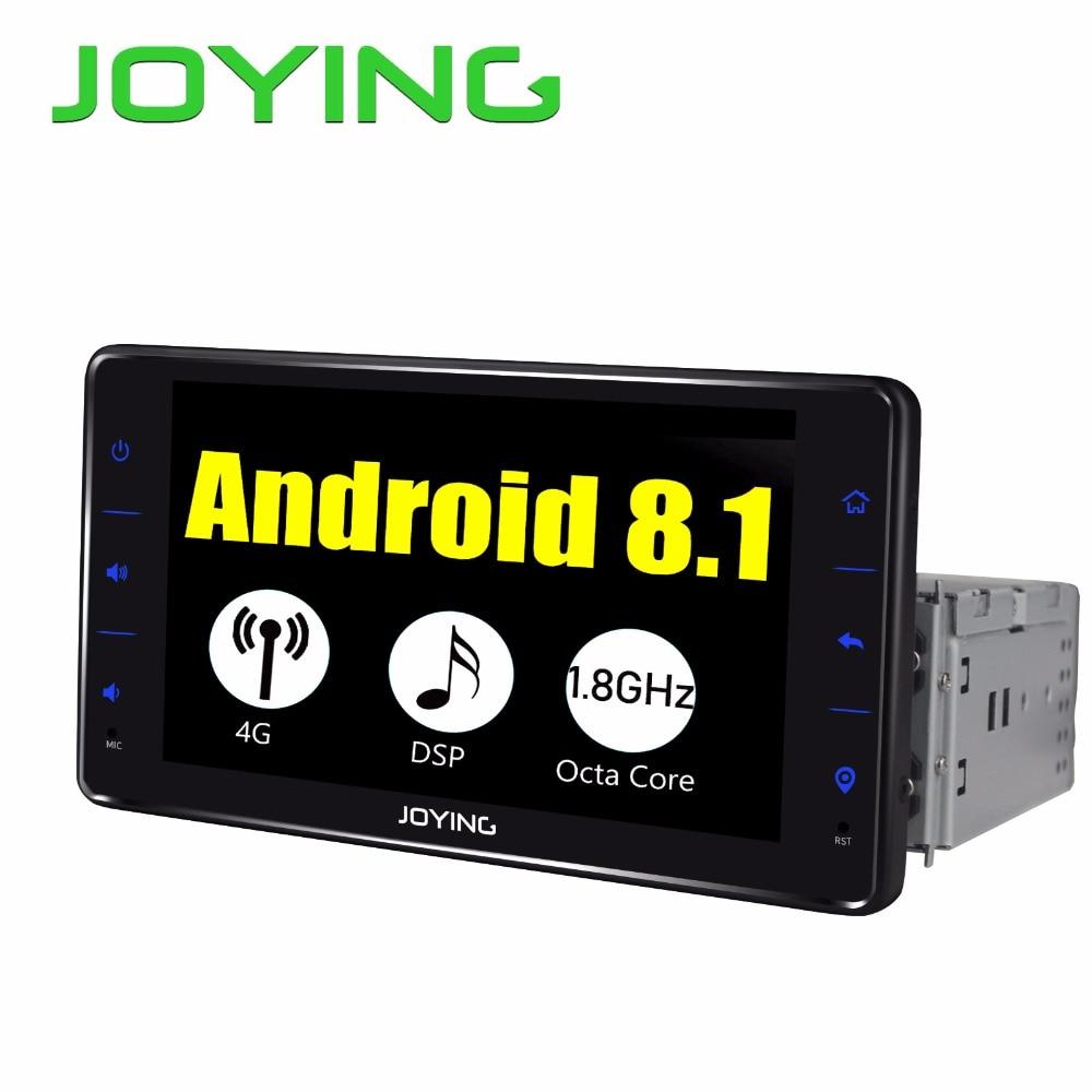 JOYING 1din Android 8.1 autoradio lecteur 6.2 universel tête unité 4 GB GPS TDA7851with DSP soutien 3G/ 4G SIM Octa Core rapide boot