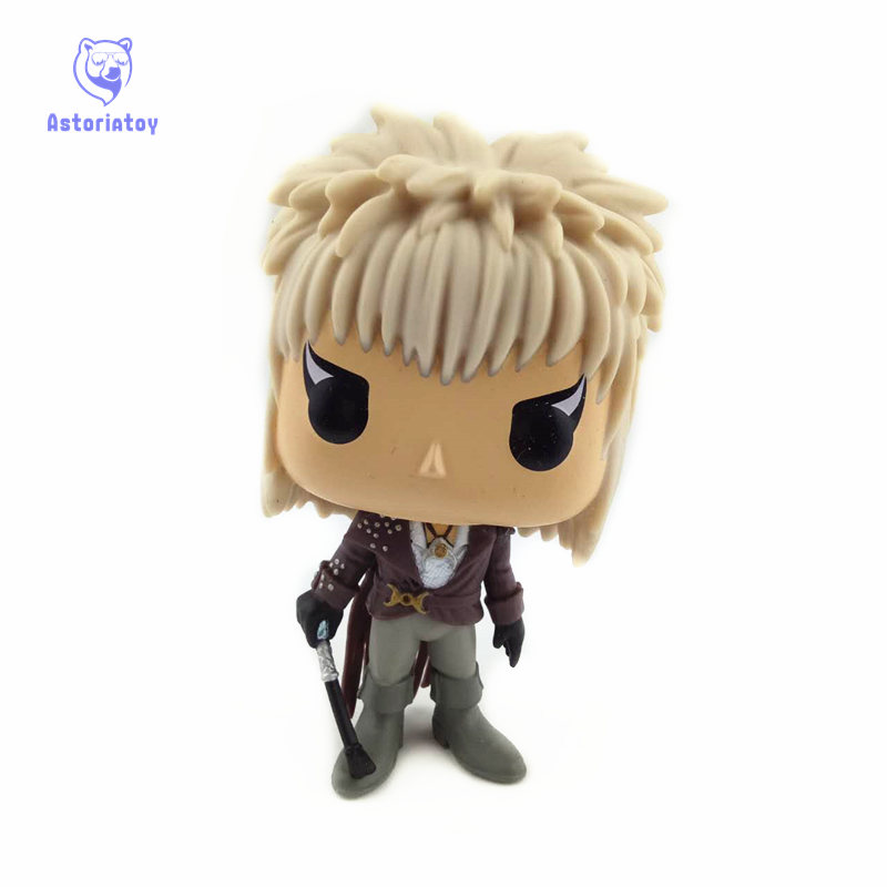 NEW 10cm Labyrinth Jareth action figure Bobble Head Q Edition new box for Car Decoration