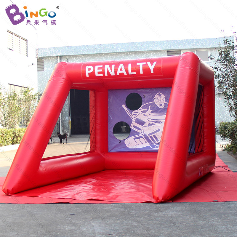 PVC portable soccer goal, PENALTY inflatable soccer football goal high quality hot sale-toy