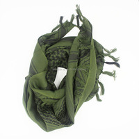 100 Cotton Army Green Military Shemagh Outdoor Sports Arabian Scarf