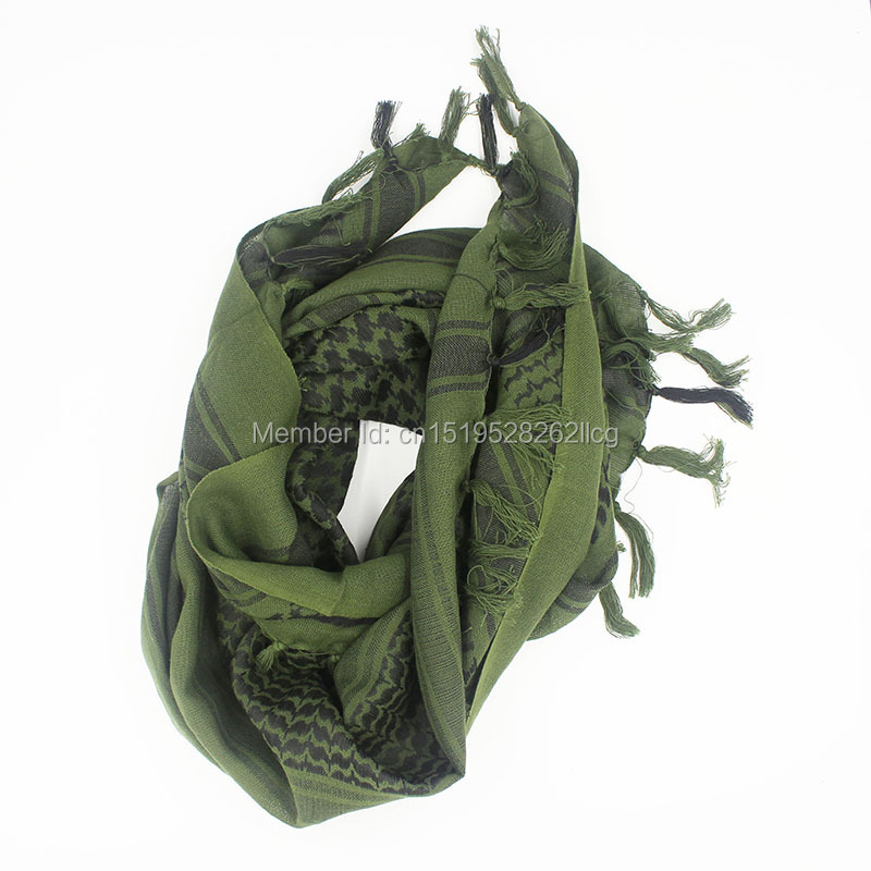 minorista online 934d7 fe78b 100% algodón grueso ejército verde Militar shemagh árabe ...