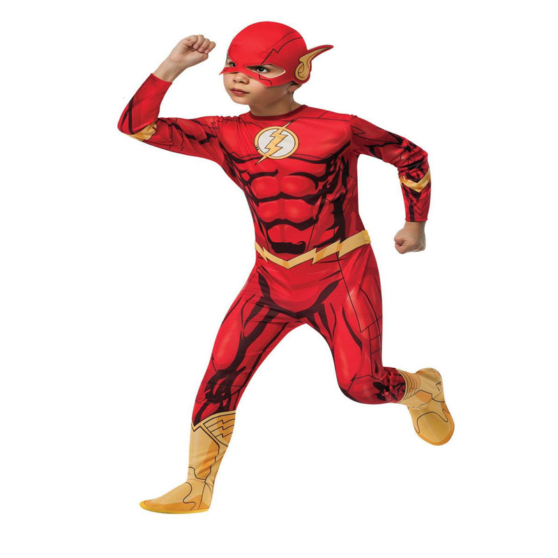 Lycra Spandex The Flash Kids 2018 The Flash Man Jumpsuit Halloween Party Cosplay Costume
