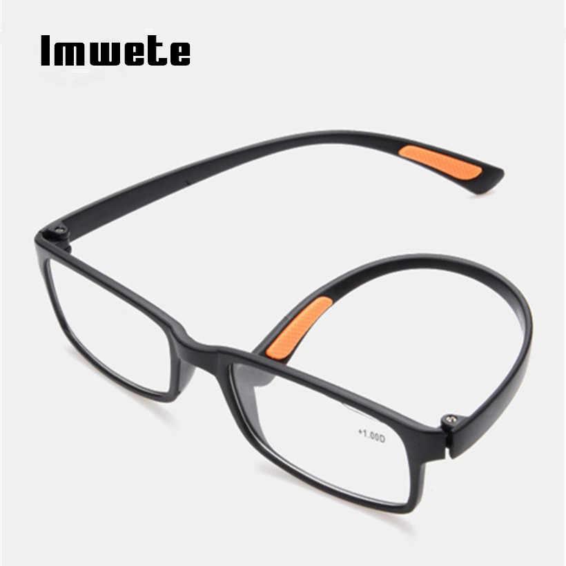 dcea0ff3b0b ... Reading Glasses Men Women TR90 Prescription Glasses Resin elder HD Reading  Presbyopic Glasses 1.0 1.5 2.0 ...