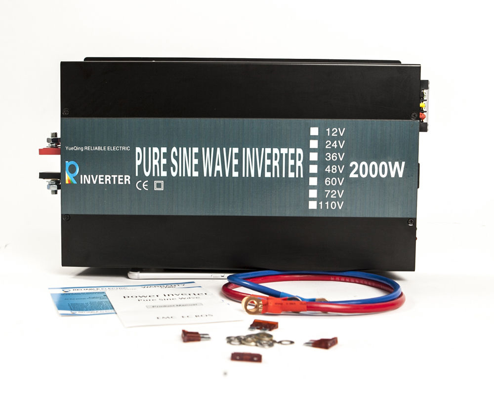 LED Display Off Grid Pure Sine Wave Solar Power Inverter 2000W 12V/24V 2300V DC AC Converter Household Solar System/Car Inverter 1kw solar grid tie inverter 12v dc to ac 230v pure sine wave power pv converter