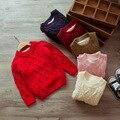 2017 новые детские дети хлопка с длинными рукавами вязать шерсть толщиной твист свитер