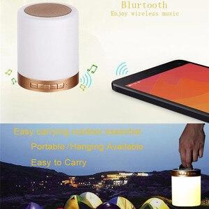 Image 4 - Quran Touch Lampe Drahtlose Bluetooth Lautsprecher Fernbedienung Bunte LED Nacht Licht Muslimischen Koran Rezitator FM TF MP3 Musik Player
