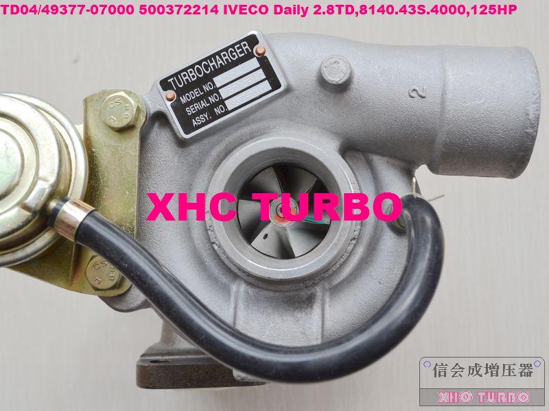 NOVÝ TD04 / 49377-07000 500372214 Turbodmychadlo pro IVECO Daily 2.8TD, 8140.43S.4000,125HP 99-03