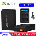 LP-E12 LPE12 LP E12 กล้องแบตเตอรี่ Bateria Batterie AKKU + LCD USB Charger สำหรับ Canon M 100D Kiss X7 Rebel SL1 EOS M10 DSLR หยด