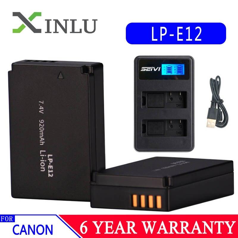 Aktiv Lp-e12 Lpe12 Lp E12 Kamera Batterie Bateria Batterie Akku Lcd Usb Ladegerät Für Canon M 100d Kuss X7 Rebel Sl1 Eos M10 Dslr Tropfen Stromquelle Batterien
