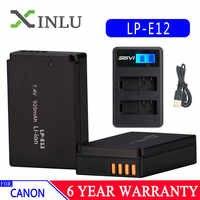 LP-E12 LPE12 LP E12 batería AKKU + LCD USB cargador para Canon M 100D beso X7 rebelde SL1 EOS M10 DSLR gotas