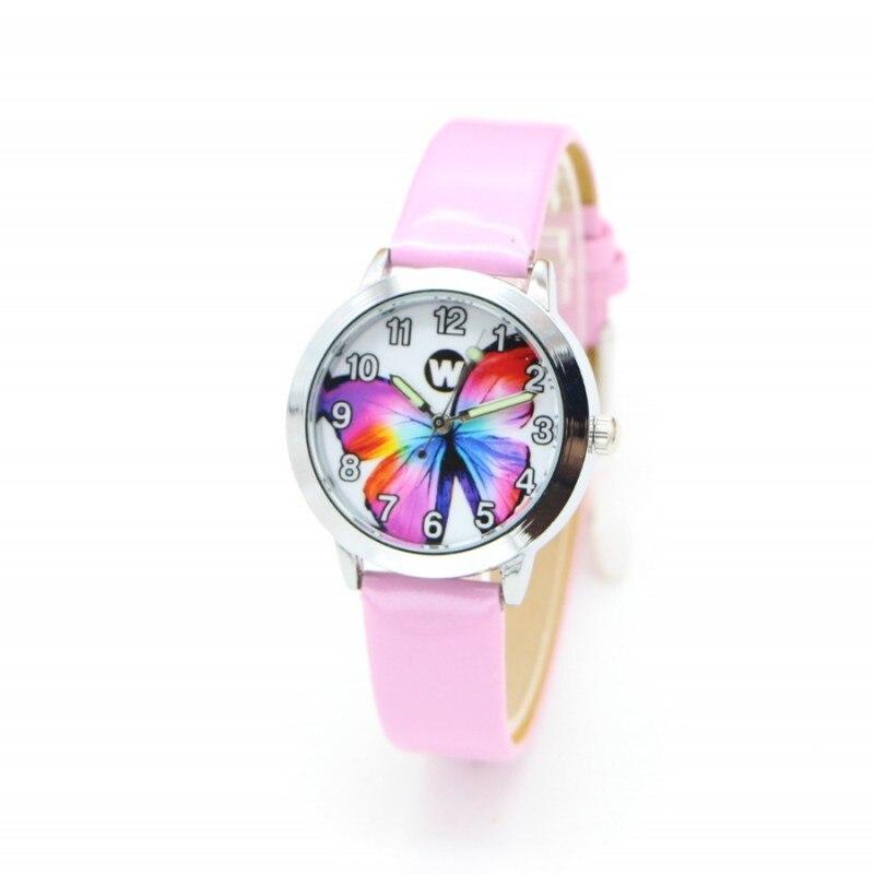New Wholesale Butterfly Desgin Kids Watch Fashion Ladies Watches Quartz Children Boy Girl Student Wristwatch Relogio Kol Saati