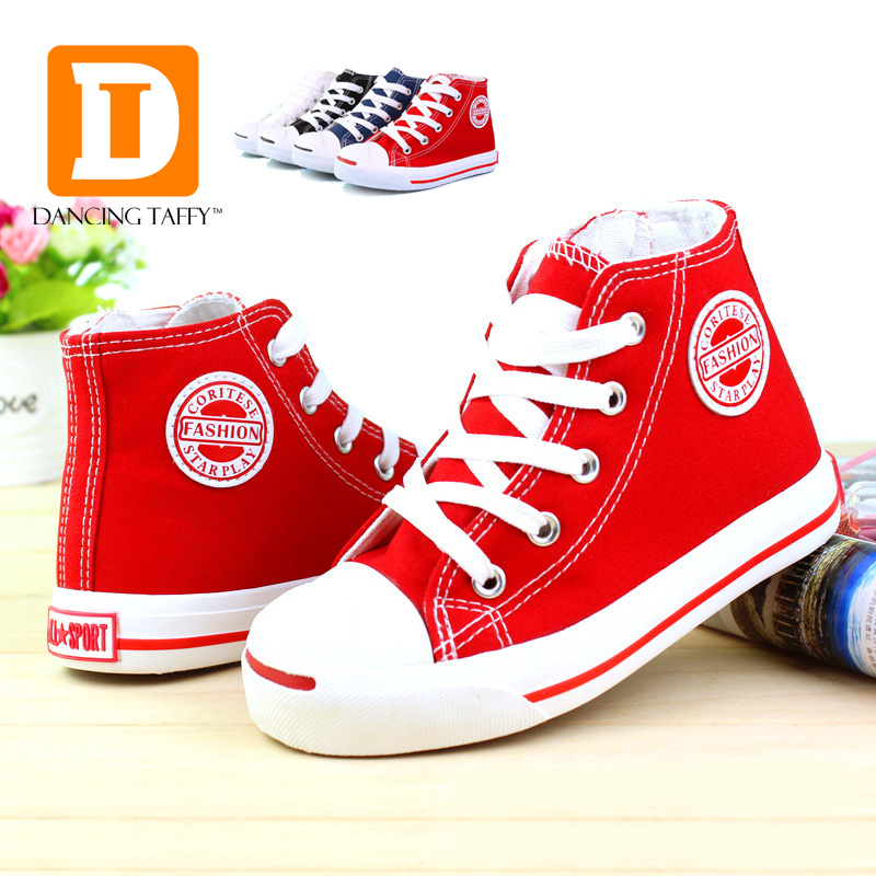 2019 Brand Kids Shoes Boys Classic Canvas Girls Sneaker Fashion Rubber High Solid Children Shoes Toddler Spring Autumn New Style