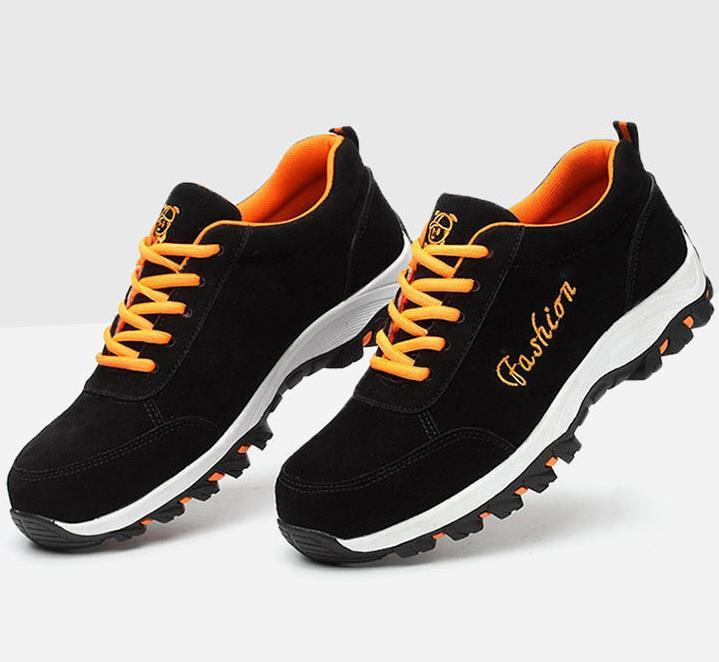 Respirável Sapatos De Pé Preto cinza Segurança 2018 Frete Escuro Botas Grátis Calçados Punção Rua Leve Aço Escalada Homens AXRx8v