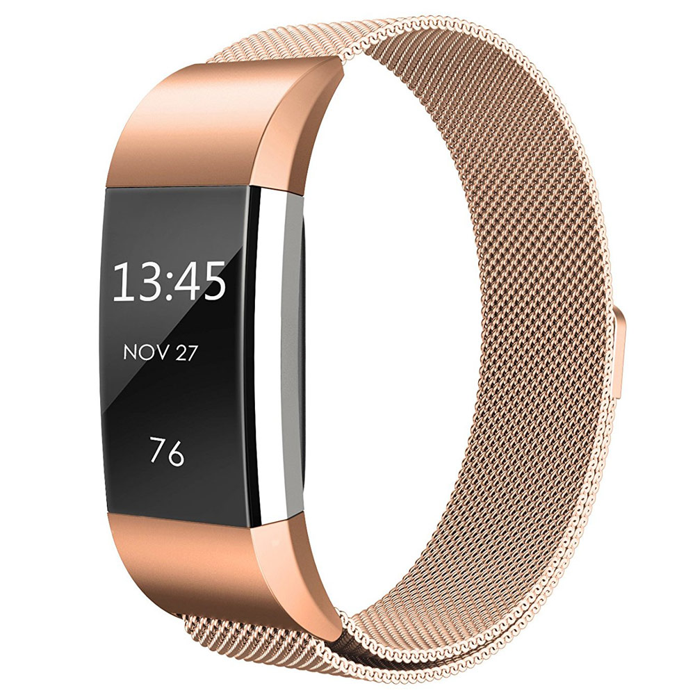 Milanese Stainless Steel Watchband for Fitbit Charge 2 Smart Watch Band Magnetic Buckle Strap Wrist Belt Colorful Bracelet