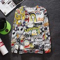 [Magic] 2015 loose cotton animated cartoon 3 d printing hoodies men skateboard Leisure originality spoof long-sleeved