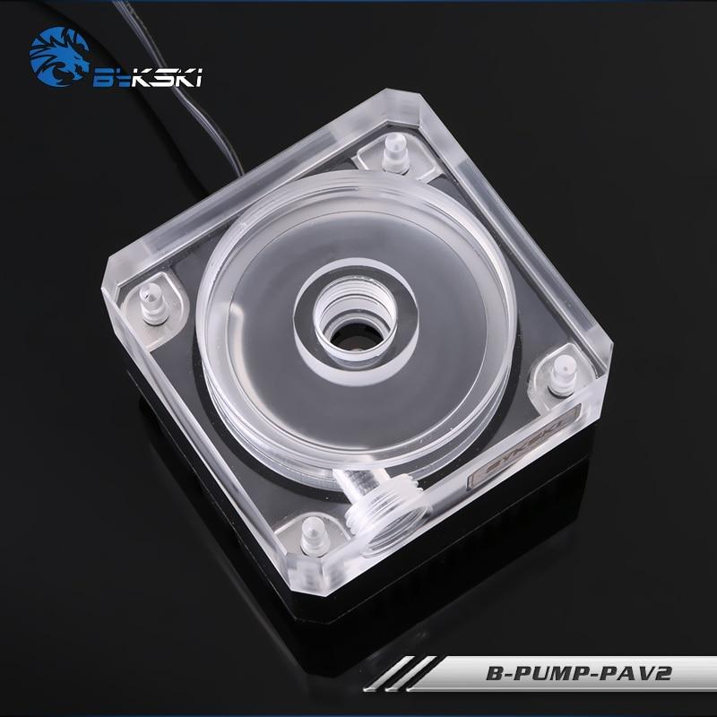 все цены на Black Original Bykski B-PUMP-PAV2 computer case Water Cooling Pump 10W 3 Meters lift 3800rpm 500L/H Rate 4pin/12v/ 50mm diameter